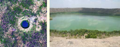 Meteor crater Lake Lonar, India