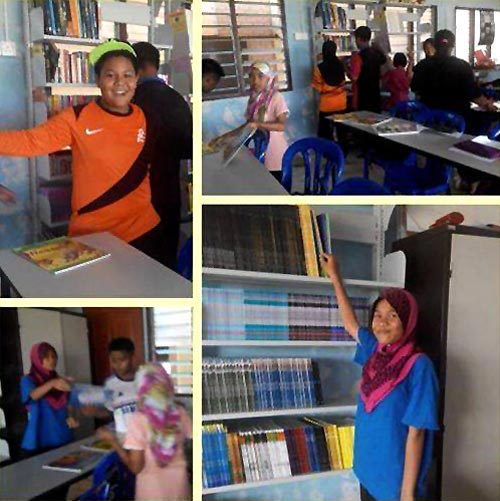 Building 100 Reading Spaces - literacy project, Malaysia