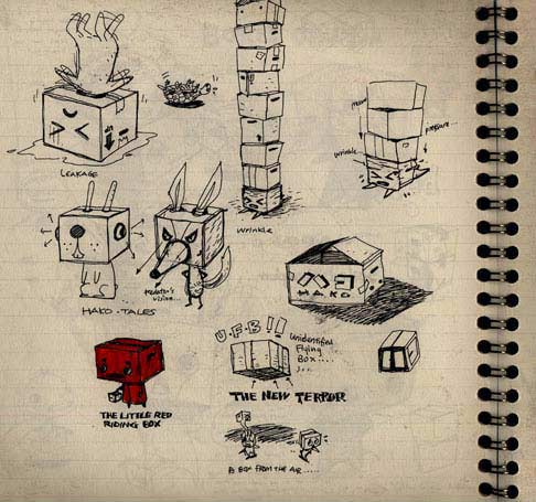 A page from C.K.Koh's sketchbooks