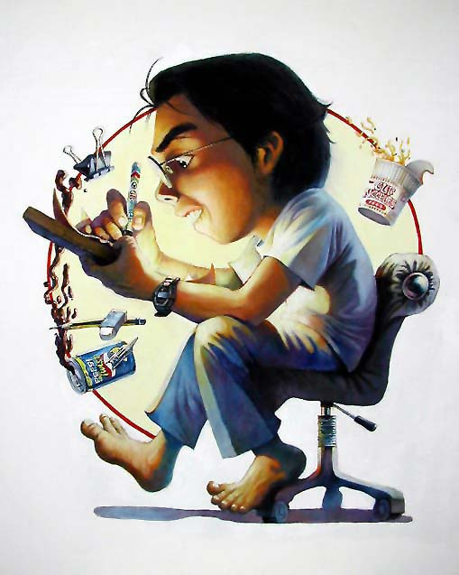 Self Portrait by artist C.K. Koh (oil on canvas, 2006)
