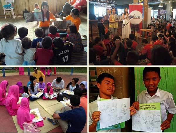 Children enjoying activities at Wisdom Club workshops, Malaysia