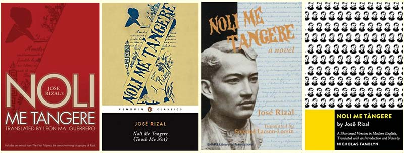 Different translations of Noli Me Tangere by José Rizal