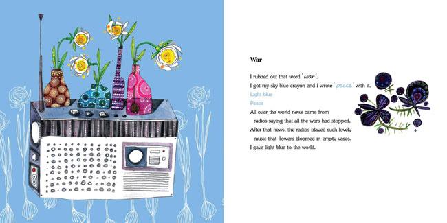 Spread from When I Coloured the World, written by Ahmadreza Ahmadi, illustrated by Ehsan Abdollahi (Tiny Owl Publishing, 2015)