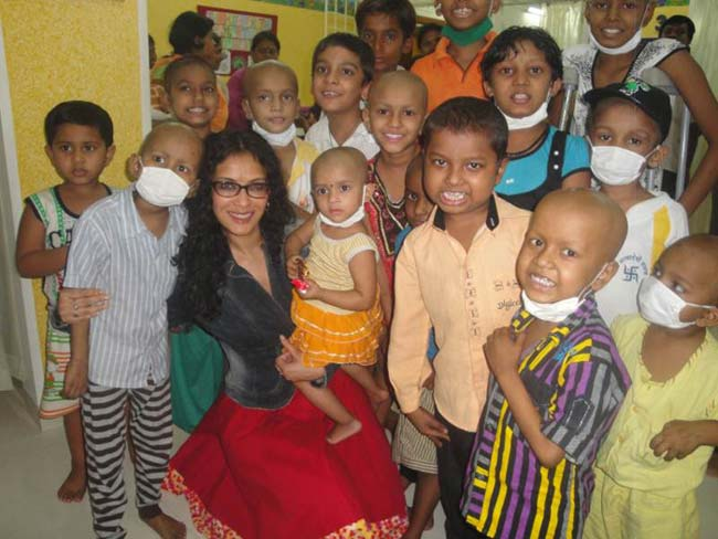 Nandana Dev Sen on a group playdate at St. Jude's Home, Bombay