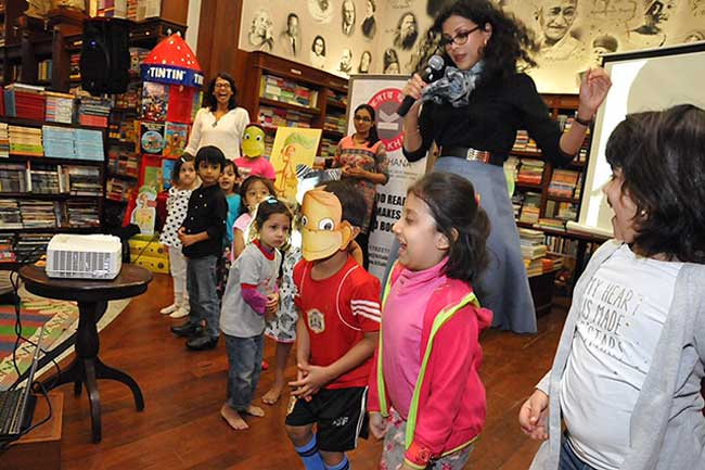 'I'll sing with rhinos and dance on my toes!' - Dancing Storytime with Nandana Dev Sen at the Kitabkhana Bookstore, Bombay
