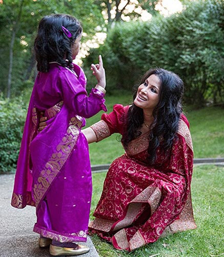Nandana Dev Sen with her niece