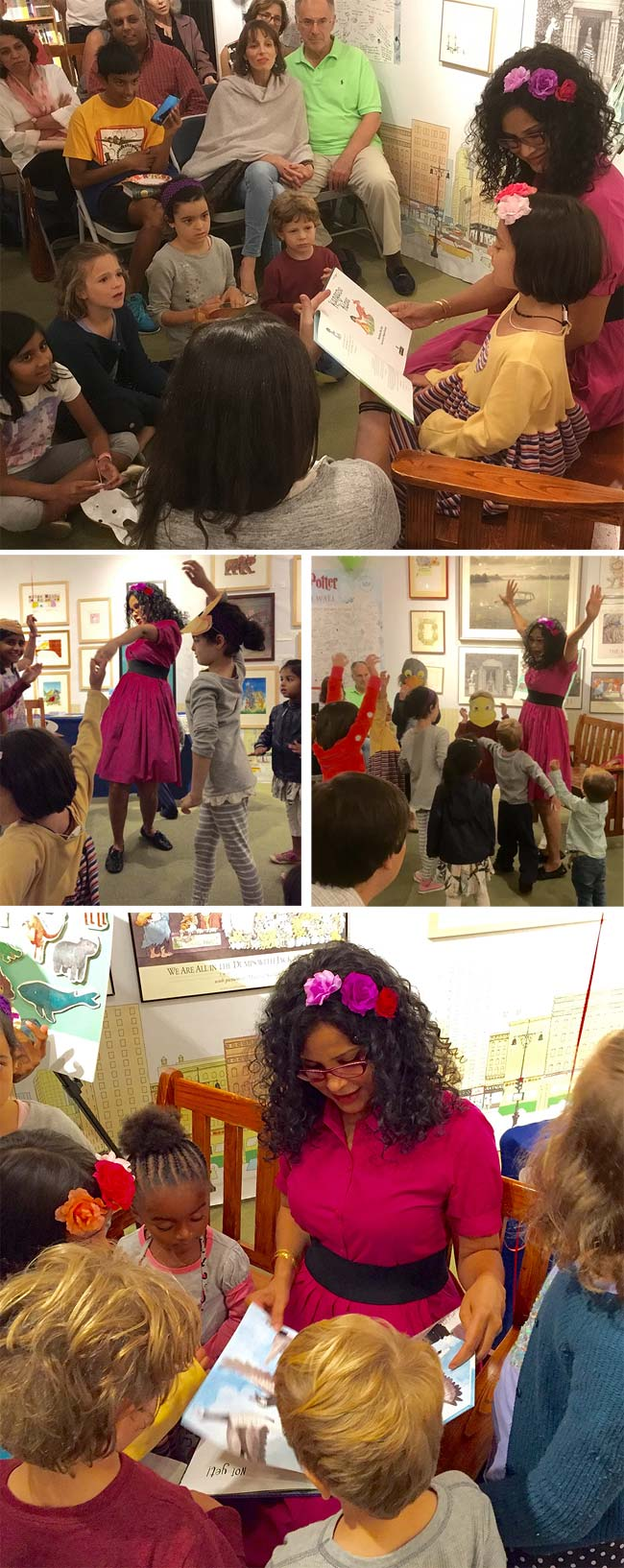 The US launch of Nandana Dev Sen's picture book Kangaroo Kisses at Books of Wonder in New York