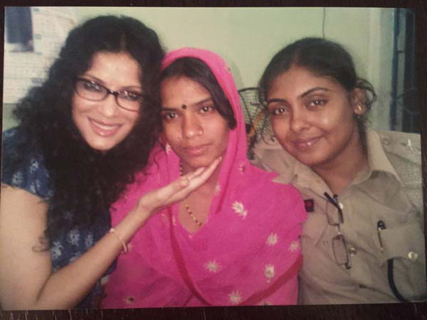Nandana Dev Sen with Rahnuma and Inspector Papiya of the Human Trafficking Squad, Kolkata