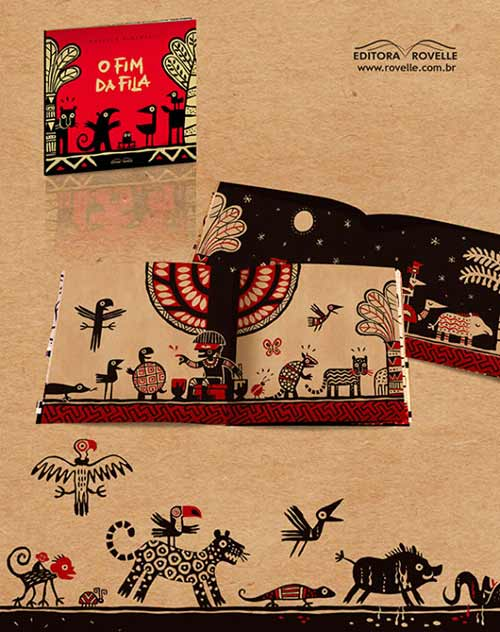 'O Fim da Fila' by Marcelo Pimentel (Brazil) - wordless picture book