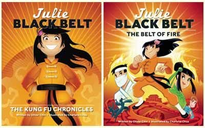 Julie Black Belt series by Oliver Chin, illustrated by Charlene Chua (Immedium)