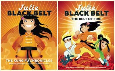 Julie Black Belt series by Oliver Chin, illustrated by Charlene Chua (Immedium)