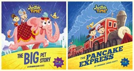 Justin Time books published by Immedium