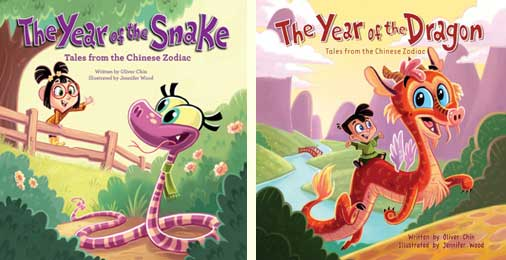 The Year of the Snake and TheYear of the Dragon by Oliver Chin and Jennifer Wood (Immedium)