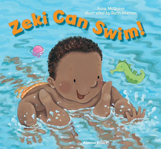Zeki Can Swim, by Anna McQuinn and Ruth Hearson (Alanna Books, 2017)
